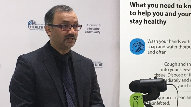 Windsor-Essex medical officer of health Dr. Wajid Ahmed in Windsor, Ont., on Thursday, April 2, 2020. (Bob Bellacicco / CTV Windsor)