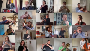 Despite a national lockdown, dozens of members of a French orchestra came together to put on a special remote performance. (The National Orchestra of France / YouTube)