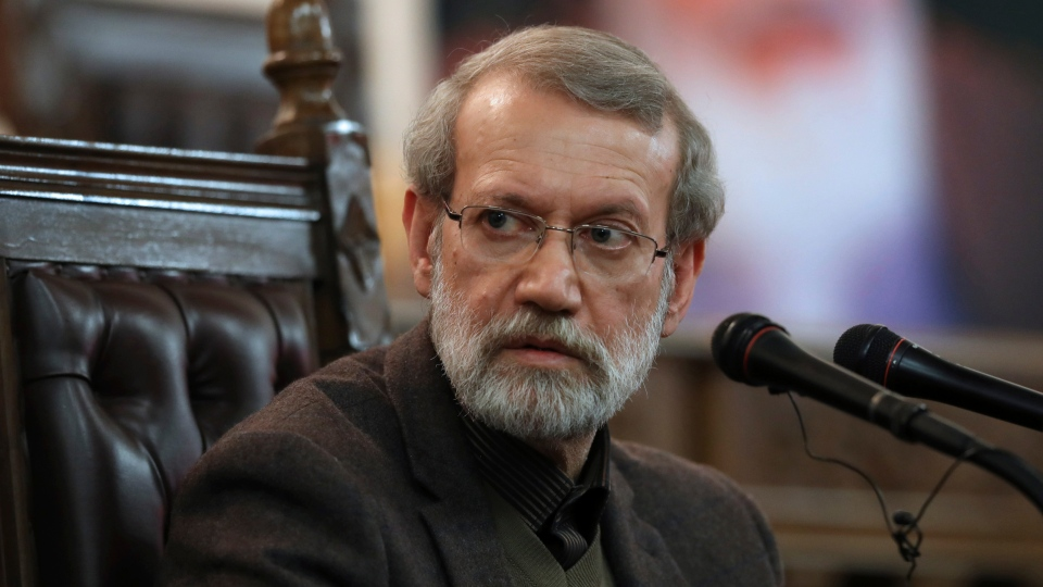 In this Dec. 1, 2019 file photo, Parliament Speaker Ali Larijani gives a press conference in Tehran, Iran. (AP Photo/Vahid Salemi, File)