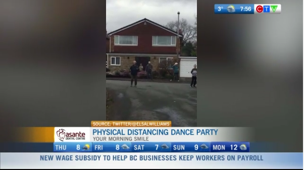 Physical distancing, dance party