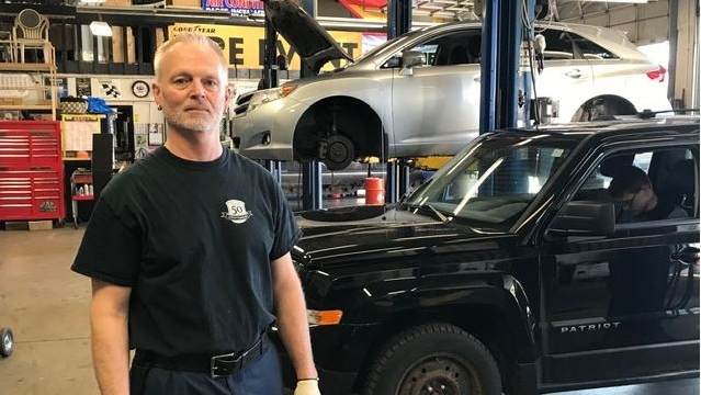 Mark Witlox, owner of Witlox Automotive in London Ont. speaks about the impact of COVID-19 on his business on Thursday, April 2, 2020. (Sean Irvine / CTV London)