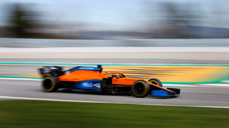 McLaren driver Lando Norris during pre-season testing at the Barcelona Catalunya racetrack, on Feb. 27, 2020. (Joan Monfort / AP)