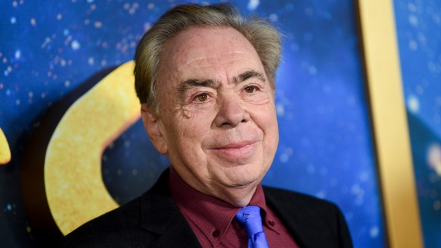 "This Dec. 16, 2019 file photo shows composer and executive producer Andrew Lloyd Webber attending the world premiere of ""Cats"" in New York. Webber is making some of his filmed musicals available for free on YouTube. On Friday, the 2000 West End adaption of ""Joseph and he Amazing Technicolor Dreamcoat"" starring Donny Osmond will be streamable, followed a week later by the rock classic ""Jesus Christ Superstar"" from the 2012 arena show starring Tim Minchin. (Photo by Evan Agostini/Invision/AP, FIle)"
