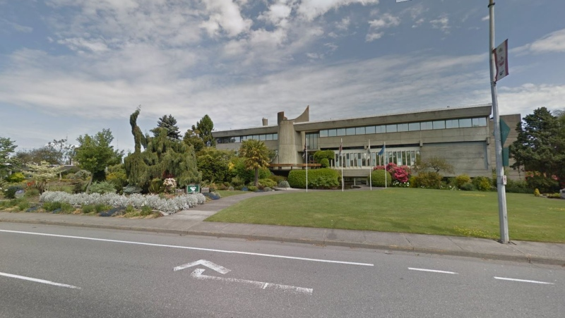 Saanich City Hall is pictured: May 2018 (Google Maps)