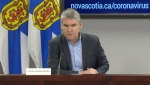 Nova Scotia Premier Stephen McNeil provides an update on COVID-19 during a news conference in Halifax on April 2, 2020.