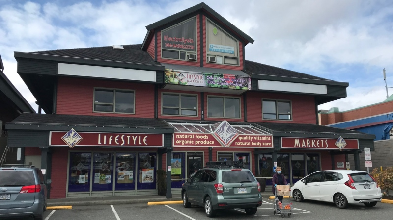 Employees of the Lifestyle Markets store on Douglas Street say they are stressed by understaffing and ongoing health concerns during the COVID-19 pandemic. (CTV News)