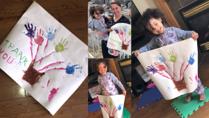 """Submit a photo: <a href=""""mailto:ottawaphotos@ctv.ca"""">ottawaphotos@ctv.ca</a><br> This Painting is done by Ayvah Finnikin, she's 2.5 and goes to Stone Haven Early Childhood Centre. We also want to say To everyone sacrificing so much for so many, Thank you! (Rayon Finnikin/CTV Viewer)"""