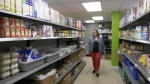 The shelves are still full at the Brockville and Area Food Bank, but volunteers are needed (Nathan Vandermeer/CTV News Ottawa)