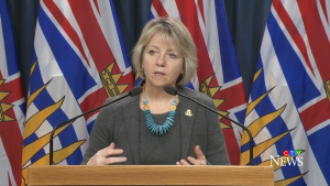 B.C. provincial health officer Dr. Bonnie Henry announces another six people have died from the novel coronavirus during her daily briefing on Thursday, April 2, 2020.