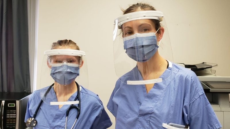 Nurses wear PPE