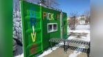 Mission Fun and Games drive-thru window. (Darcy Seaton/CTV News Edmonton)