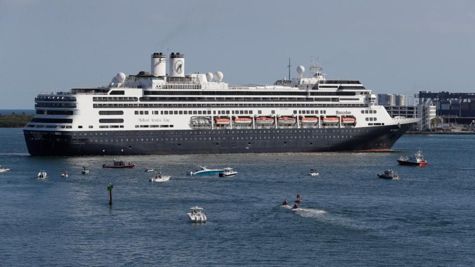 The cruise ship Rotterdam at Port Everglades
