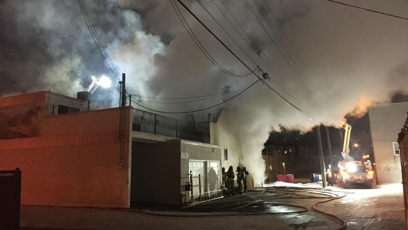 97 Street fire, April 3