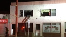 Fire crews were called to this two-storey building in Chinatown on Friday morning.