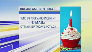 CTV Morning Live Birthdays Apr 03