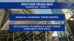 April 3 weather headlines