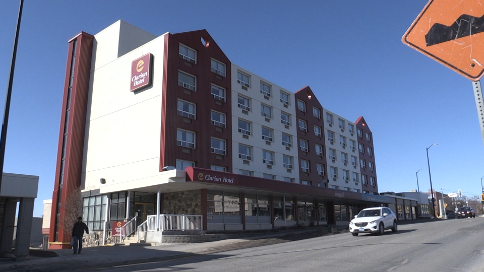 Sudbury's Clarion Hotel will house ALC patients during COVID-19 crisis. Mar./20 (Dana Roberts/CTV Northern Ontario)