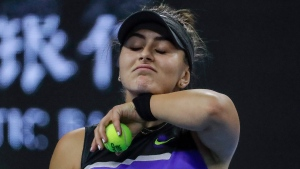 Bianca Andreescu urges young people to stay home