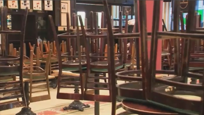 chairs up restaurant