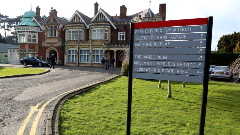 Incredibly rare World War II footage of British spy staff shot at a site connected to the famous codebreaking facility Bletchley Park has been discovered and published online. (Chris Radburn/AFP/Getty Images)