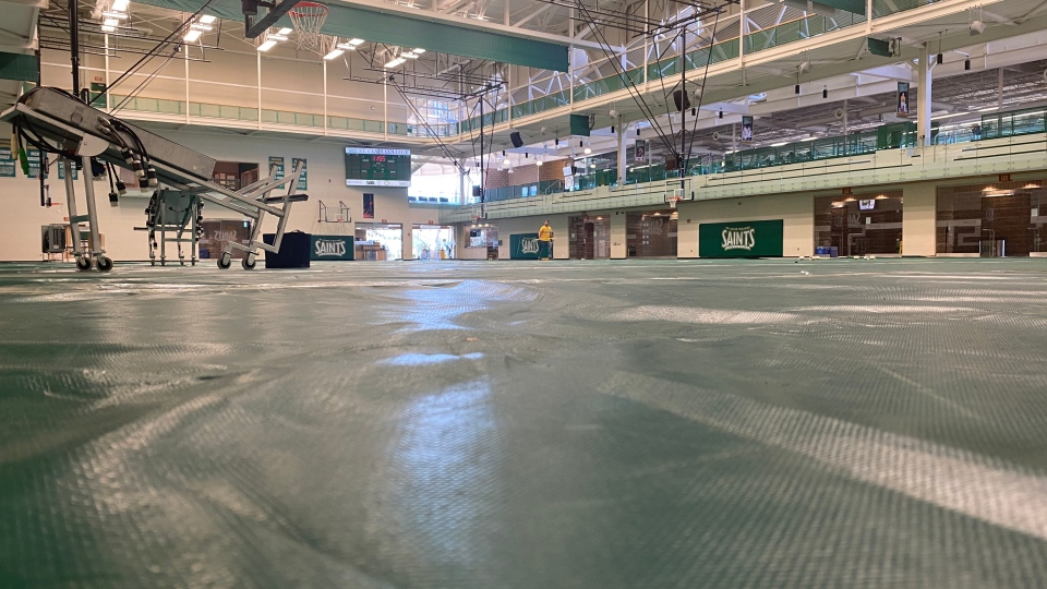 St. Clair Sportsplex in Windsor, Ont., on Friday, April 3, 2020.(Courtesy Windsor Regional Hospital)
