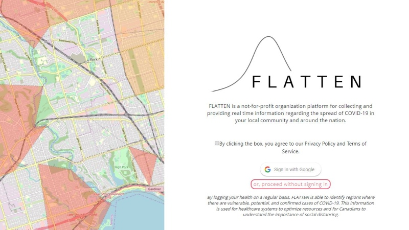 Flatten.ca or Aplatir.ca is the new online tool being used by Montreal public health officials to track cases across the city.