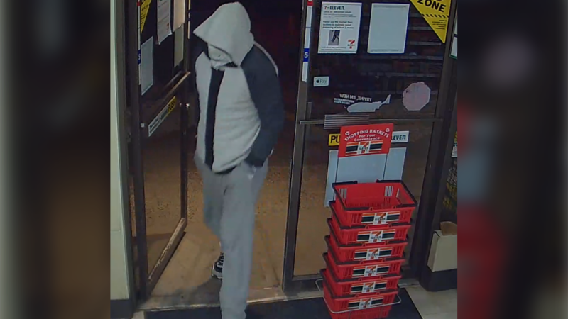 Comox Valley RCMP are hoping the community can help identify this suspect who was involved in a robbery early Friday: (Comox Valley RCMP)