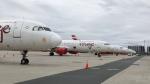 Empty planes sit at Toronto Pearson International Airport on April 3, 2020. (Mike Walker/CTV News Toronto)