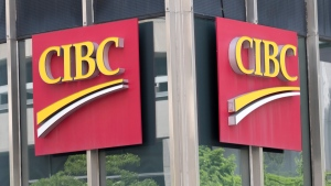 The CIBC bank logo is seen Tuesday, June 21, 2016 in Montreal. CIBC says it is offering reduced interest rates on personal credit cards for Canadians in financial hardship due to the COVID-19 pandemic. (THE CANADIAN PRESS/Paul Chiasson)