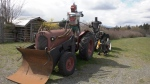 A roadside art display featuring homemade knights aboard tractors and tricycles is lifting spirits in the mid-island: (CTV News)