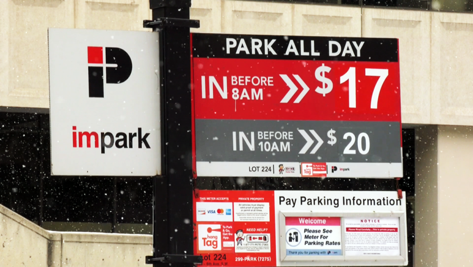 A Calgary man working from home because of COVID-19 says he's paying hundreds of dollars not to park downtown.