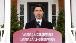 Prime Minister Justin Trudeau addresses Canadians on the COVID-19 pandemic from Rideau Cottage in Ottawa on Friday, April 3, 2020. THE CANADIAN PRESS/Sean Kilpatrick