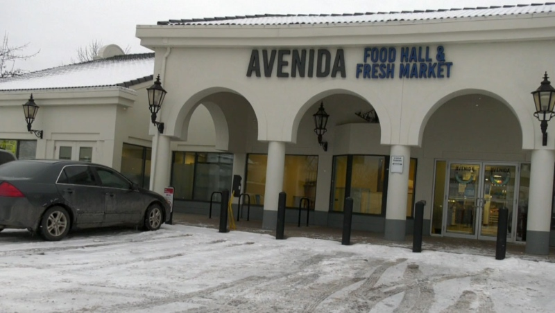 Police are searching for suspects who they say broke into the Avenida Food Hall early Friday morning.