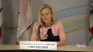 Dr. Heather Morrison, P.E.I.'s chief public health officer, provides an update on COVID-19 during a news conference on April 4, 2020.