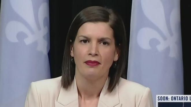 Quebec Deputy Premier Genevieve Guilbault
