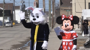 Before the COVID-19 pandemic, Gwen's Friends provided costume characters for parties and celebrations.April 4/2020 (Sergio Arangio/CTV News Northern Ontario)