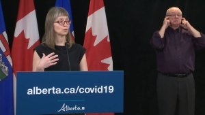 Dr. Deena Hinshaw, Alberta's chief medical officer of health, says more recommendations about mask usage by the general population could come next week.