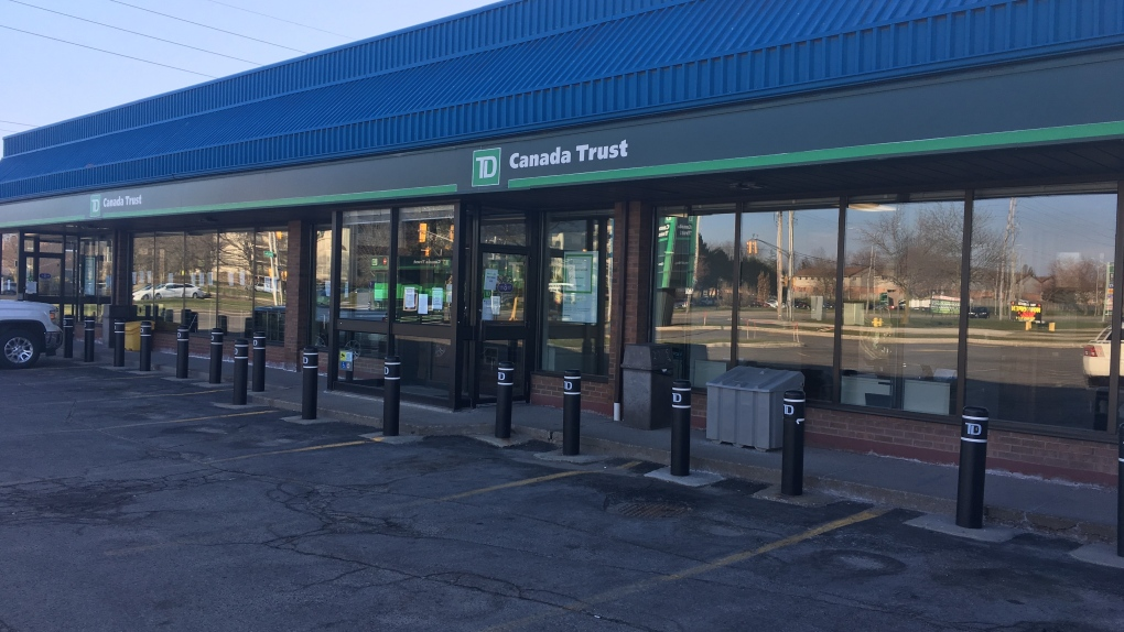 The TD branch at Ernest and Bradley Avenues
