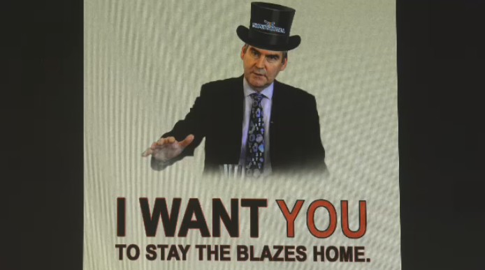 Nova Scotia premier Stephen McNeil's unique way of telling people to stay home is now going viral.