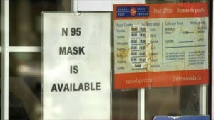 N95 mask available sign