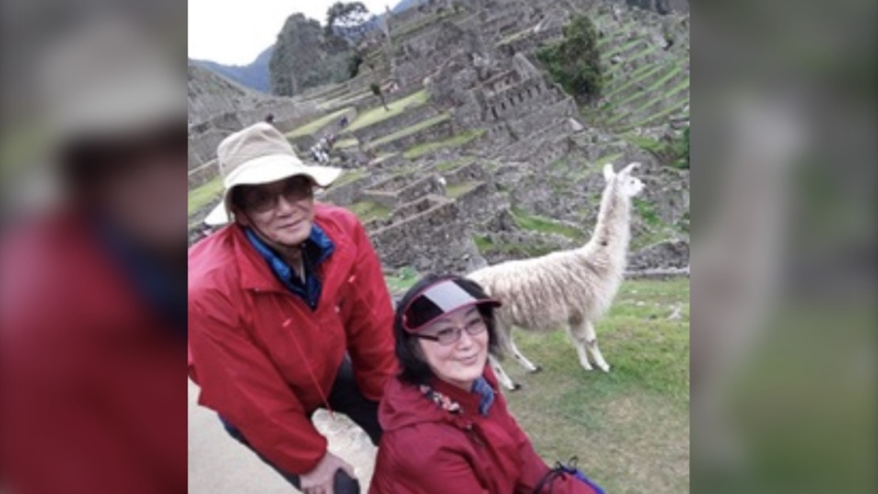 Ruby Choi says she has been stuck in Lima, Peru, ever since her husband Chun suddenly became sick and died and she herself contracted COVID-19. (Supplied)