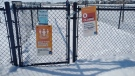 The city closed four fenced-in dog parks on April 4, including the Paisley off-leash area. (Amanda Anderson/CTV News Edmonton)