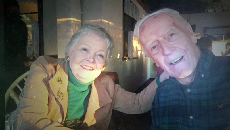 Ted and Jean Pollock, seen here, both died of COVID-19 within a week of each other. The couple was married for 29 years.