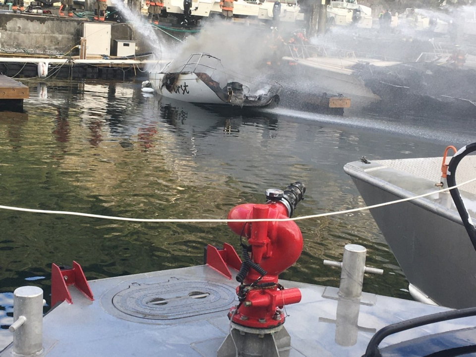 Horseshoe Bay boat fire