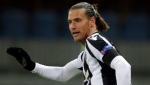In this Thursday, Oct. 4, 2018 file photo, PAOK's Aleksandar Prijovic gestures during a Group L Europa League soccer match between Bate and PAOK at the Borisov-Arena stadium in Borisov, Belarus. (AP Photo/Sergei Grits, File)