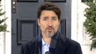Prime Minister Justin Trudeau delivers his daily address.