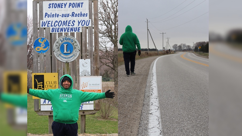 Dennis Smith is walking 100 miles to raise funds for a friend.