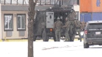 The Edmonton police tactical team was called to a motel on Gateway Boulevard on April 5.