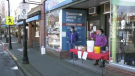 Fort Royal Pharmacy spent the weekend giving out free hand sanitizer to anyone who brought a bottle to fill. (CTV)