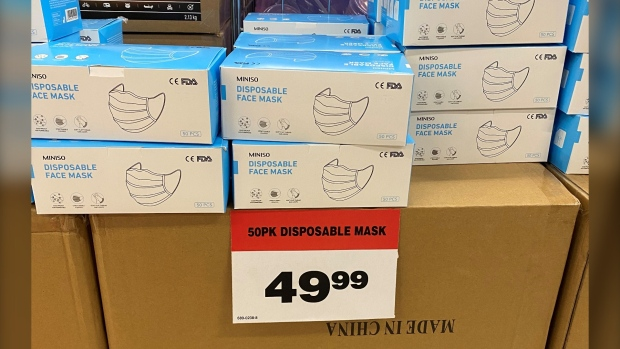 Critics call out Canadian Tire over stacks of pricey masks while hospitals call for donations